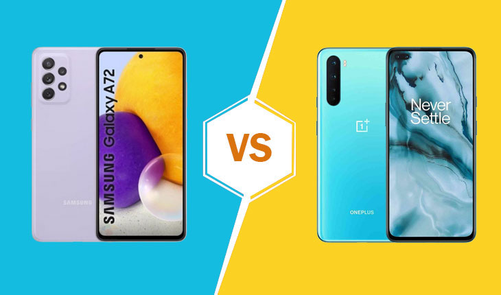 galaxy a72 vs oneplus nord