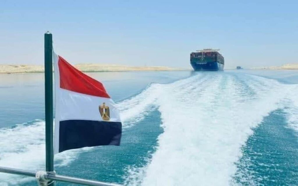Ever Given ship free and moving Suez Canal video