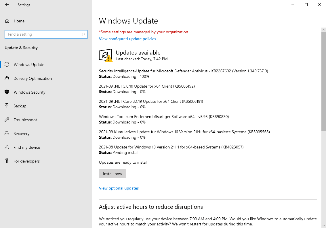 microsoft windows security-updates-download septiembre 2021